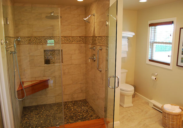 walking in shower easy access bathrooms